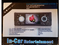 "In-Car Entertainment DVD 3.5"" TFT LCD Monitor"