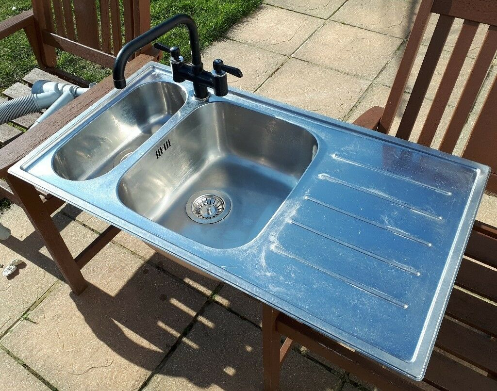 Stainless steel kitchen sink and taps aswell as waste | in Gosport ...
