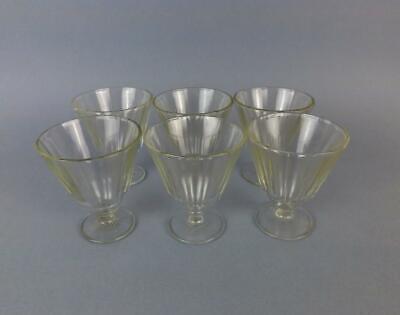 Antique Original Art Deco Russian USSR Faceted Set of 6 Glasses Circa 1940-50y.