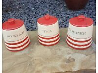 Coffee Tea & Sugar Canisters