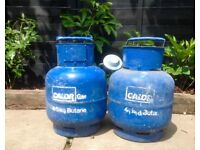 2x Calor Gas Bottles Butane 4.5kgs plus regulator (one £12, two £20)