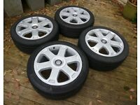 "Audi S3 Alloy Wheels 17"" 5x100 - Genuine OEM Alloys TT, A3, VW Golf"