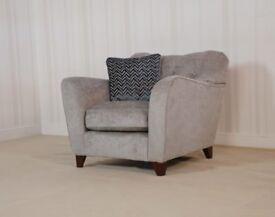 Designer Fabric Grey Bronte Buoyant chair £399