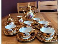 Bondware Fine China Porcelain Tea Set - Complete Gold Antique Coffee Set