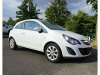 2014 White Vauxhall Corsa 3dr 1L fully serviced and MOT only 1 owner