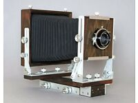 Handcrafted Large format wooden camera 4x5