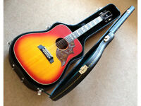Rare 70`s Ibanez Concord Hummingbird 12-String acoustic guitar MADE IN JAPAN with hard case
