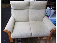 Cintique hertford 2 Seater Settee in D1212 Light Green fabric