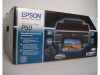 P50 Epson Stylus Photo Inkjet Color Printer tray CD/DVD print USB- NEVER OPENED!
