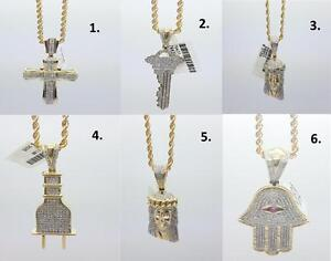 Necklace Rope chain / Torsade diamonds cross Jesus Hamsa Theplug