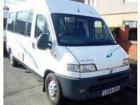 Reduced Fiat Ducato Camper Van. Hot Water. Full MOT. BARGAIN