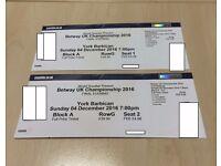 Betway UK Championship 2016 - Snooker - York Barbarian - Sunday 4th December - Block A Row G