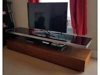 Walnut Hardwood TV Stand
