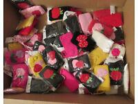 150 pcs job lot wholesale knit crotchet phone pouch kawaii purse bag