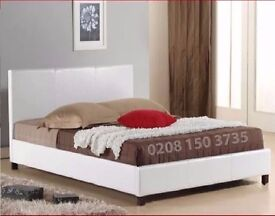 【PREMIUM QUALITY 】DOUBLE PU LEATHER BED FRAME INCLUDING ORTHOPEDIC MATTRESS