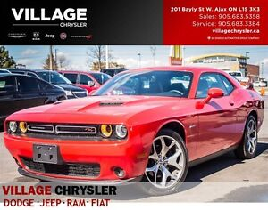 2016 Dodge Challenger R/T, NAV, LEATHER, HEATED AND VENTED SEATS