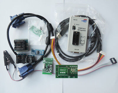 Rt809f Set Universal Eprom Flash Vga Isp Avr Programmer Clip 7 Adapter Socket