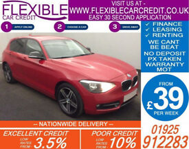 2012 BMW 116i 1.6 SPORT GOOD / BAD CREDIT CAR FINANCE AVAILABLE