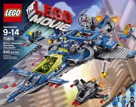 Lego 70816: Lego Movie Benny's Spaceship with 4 minifigs BNISB- Factory sealed