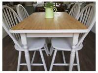Refurbished pine dining table and 4 chairs