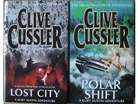 Clive Cussler hardback books