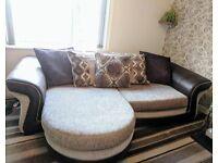 Pillow back lounger sofa/ corner sofa