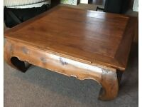 Wooden low coffee table
