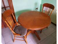 Oak Extending Dining Table And 4 Chairs 100