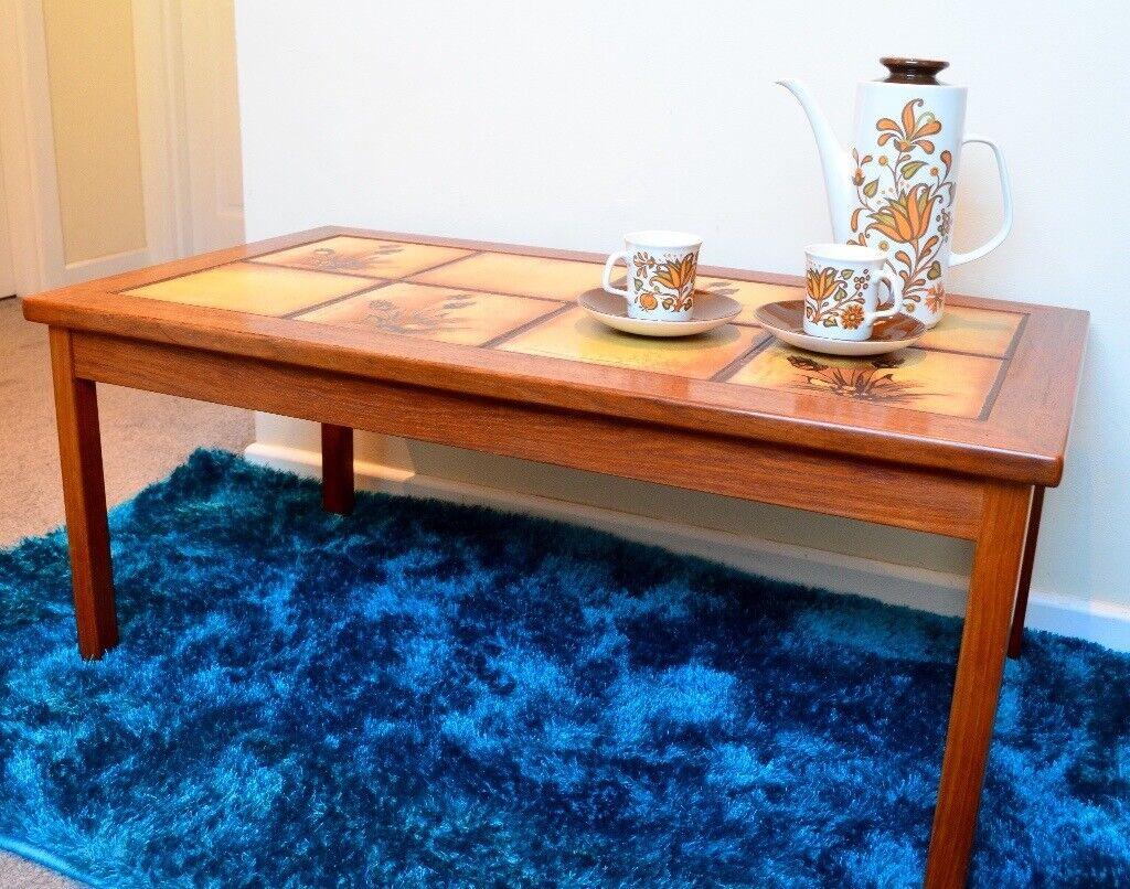 Mid-century Danish teak and tile coffee table | in ...
