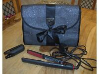 5.0 JEMELIA HAIR STRAIGHTENERS WITH GUARD & GHD HEAT PROTECTION MAT / CASE