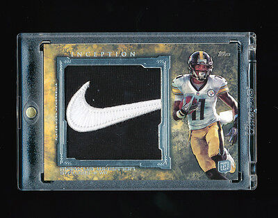 MARKUS WHEATON 2013 TOPPS INCEPTION NIKE SWOOSH PITTSBURGH STEELERS PATCH RC 1/1