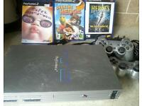 Sony playstaion2 complete console with 3 games for sale