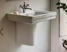 Basin & Semi Pedestal -NEW, STILL BOXED