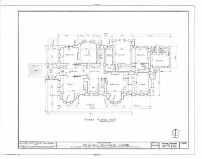 Significant house plans, Victorian Romanesque Mansion, architectural drawings