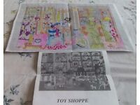 2 new counted cross stitch kit by Readicut. One called Toy Shop, other Victorian in dress shop.