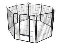 RayGar® Heavy Duty 8 Panels Enclosure Dog Pet Cat Pen Cage Puppy Play Fence Run XL 80 x 120 cm