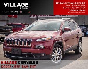 2016 Jeep CherokeeTech Pkg, Pano-Sunroof,Limited,Nav, Leather
