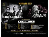 Simple minds. Pretenders . Katy Tunstall X 2 Tickets