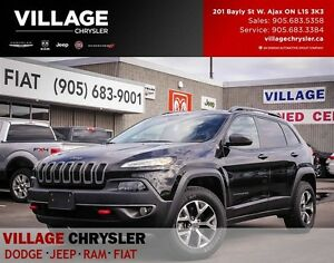 2016 Jeep Cherokee Trailhawk,Nav,Panosunroof,Leather,Remote