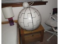 "IKEA Large Globe Pendant Light ""Deathstar"" (PS2014)"