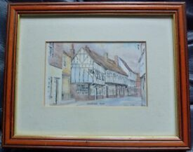 Painting / print of King street Sandwich Diane Setek
