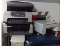 JOB LOT FOUR PRINTERS, SCANNER