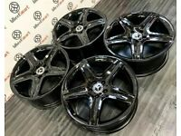 """GENUINE MERCEDES GLA 19"""" AMG ALLOY WHEELS - AVAILABLE WITH TYRES - 5 X 112 - GLOSS BLACK"""