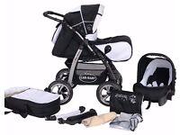 Junior pram pushchair stroller buggy 3 in1 from Baby-Merc