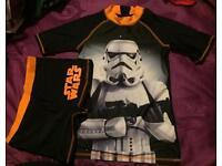 Boys uv swim suit set of top & shorts Star Wars 12 - 13 yrs