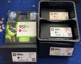 HP 950 and 951 XL printer ink cartridges