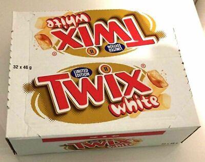 TWIX WHITE LIMITED EDITION CHOCOLATE BARS 32X46g - (2,4,8,32 PIECES) ORIGINAL (Twix Bars)