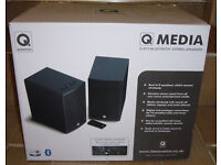 Q Acoustics BT3 BLACK Active Bluetooth Stereo Speakers What Hifi? 5* Rated Mint Condition