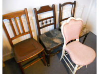 Chairs for Upholstery or Upcycling - £5 each