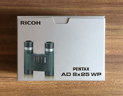 PENTAX Binoculars AD 8x25 WP Roof (Dach) Prism New F/S w/Tracking Number 62881